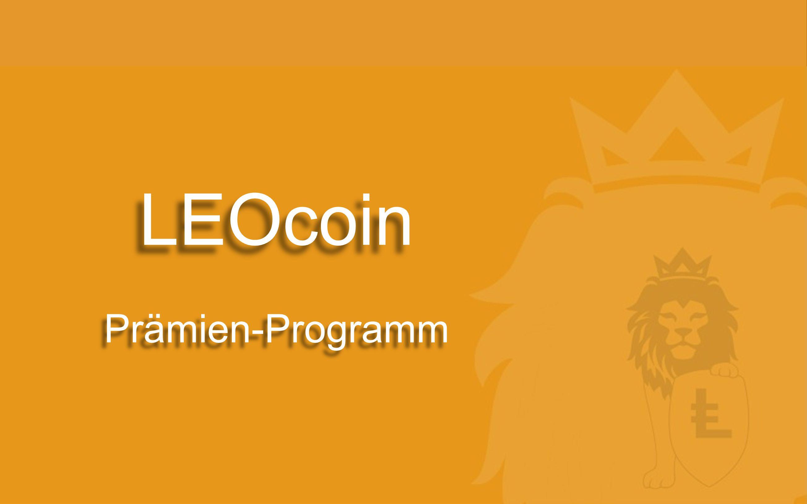 LEOcoin Prämien-Programm