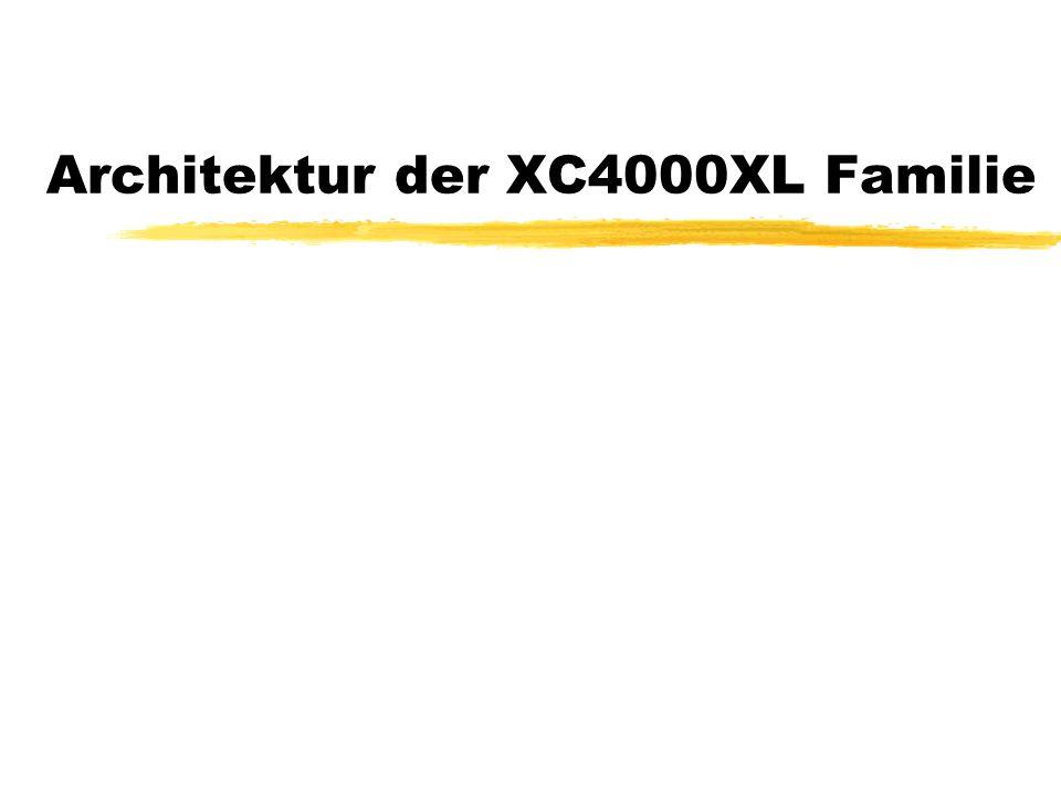 Die XC4000XL Familie zDie XC4000XL Familie wird auf der im Praktikum verwendeten Experimentierplatine verwendet.