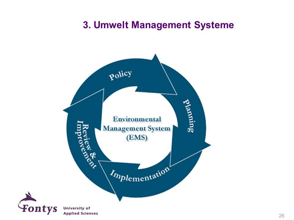 3. Umwelt Management Systeme 26