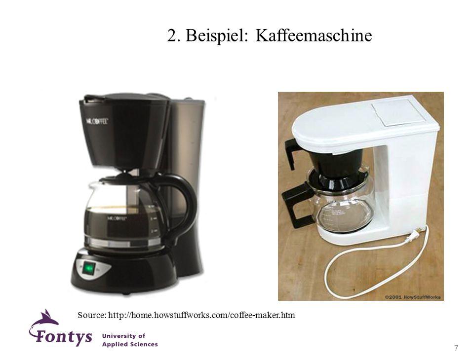 Source: http://home.howstuffworks.com/coffee-maker.htm 2. Beispiel: Kaffeemaschine 7