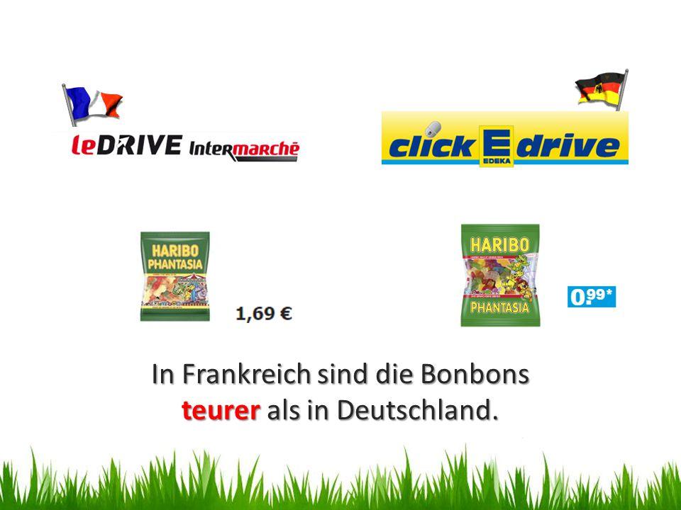 In Frankreich sind die Bonbons teurer als in Deutschland.