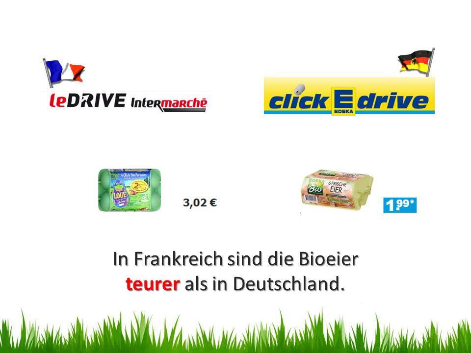 In Frankreich sind die Bioeier teurer als in Deutschland.