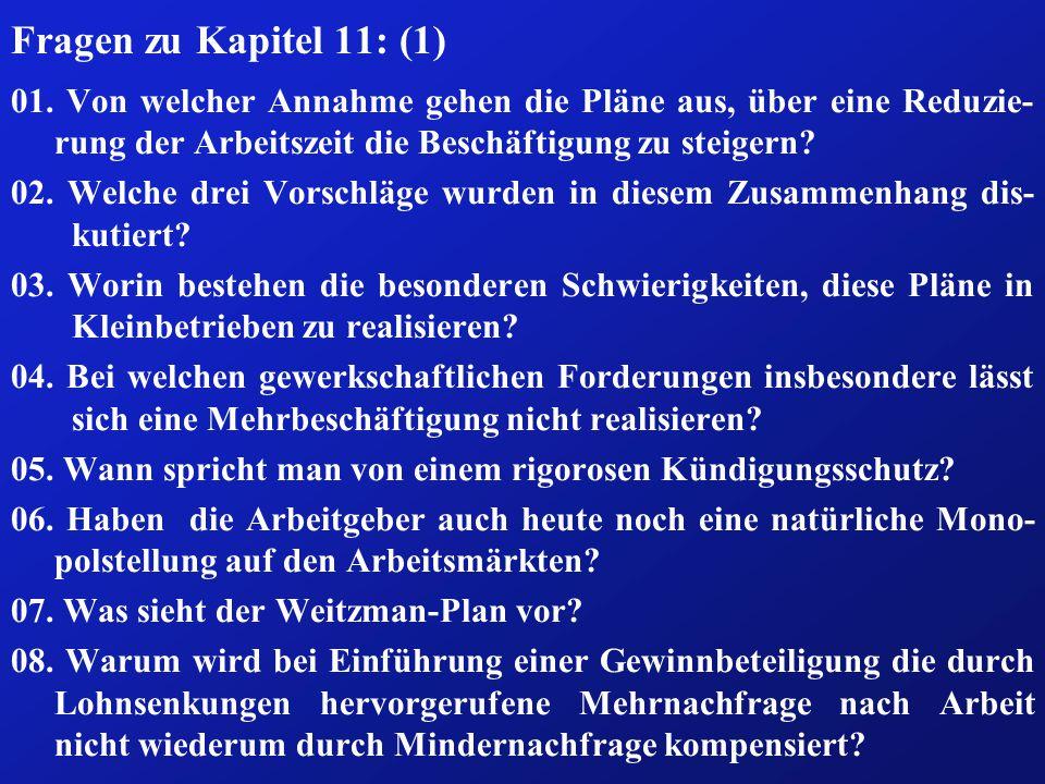 Fragen zu Kapitel 11: (1) 01.