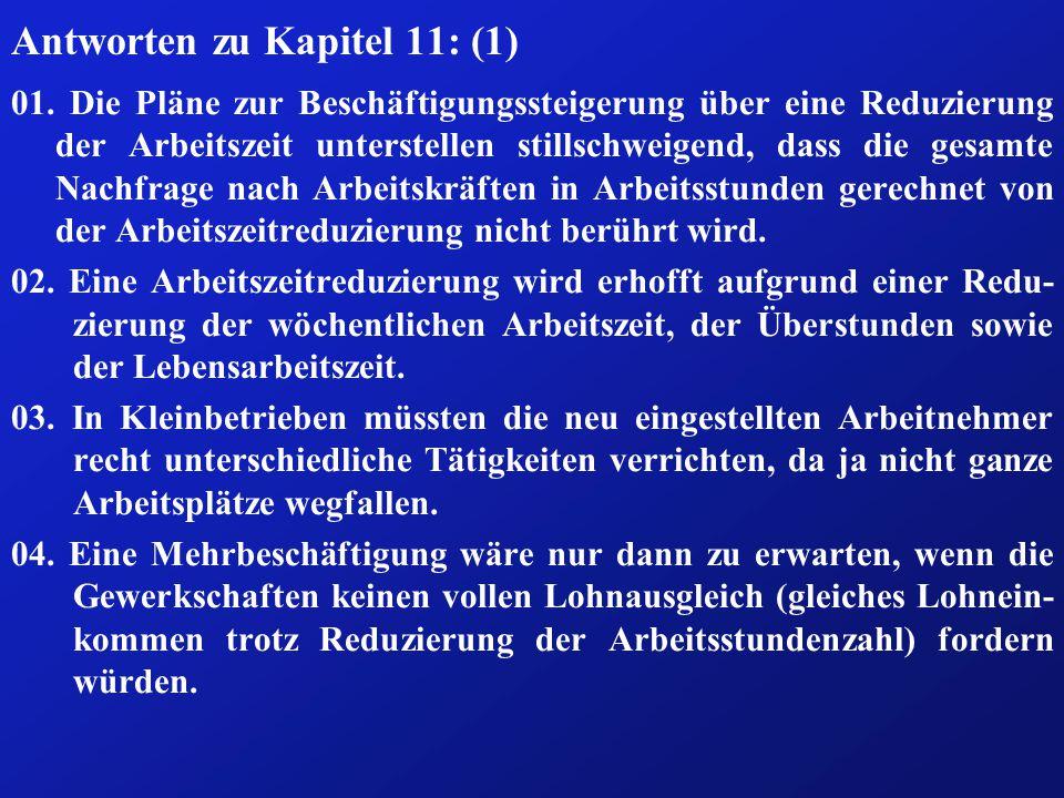 Antworten zu Kapitel 11: (1) 01.