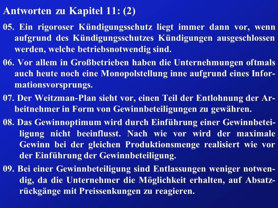 Antworten zu Kapitel 11: (2) 05.