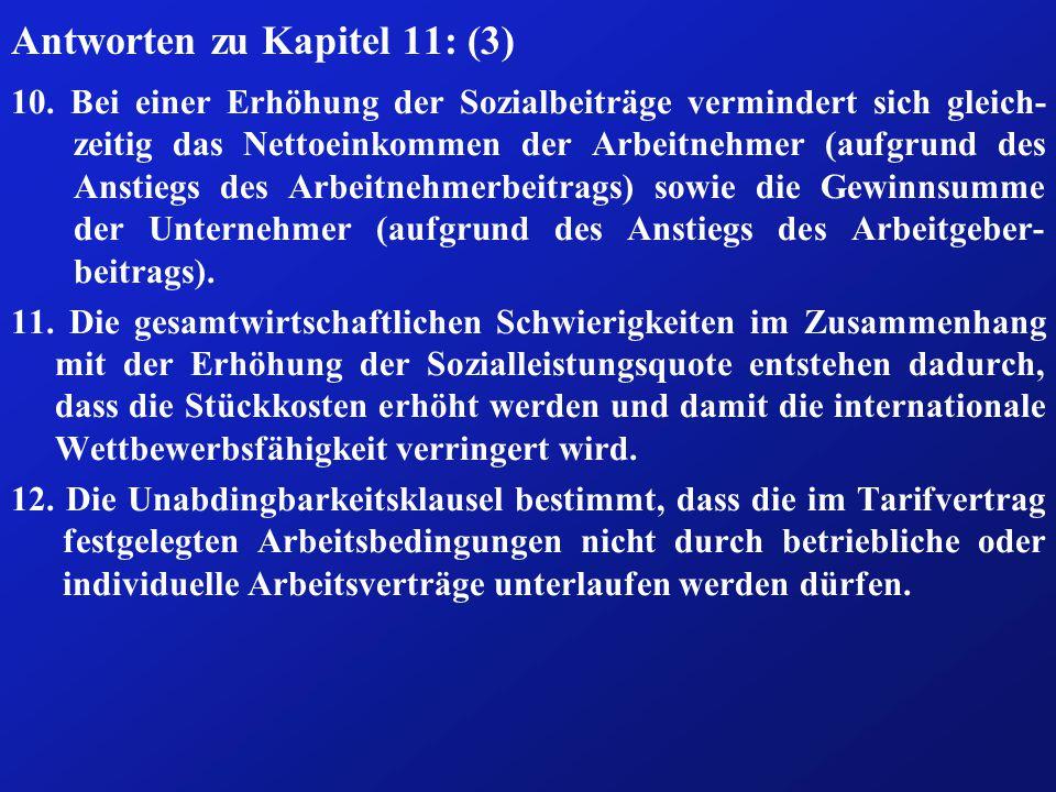 Antworten zu Kapitel 11: (3) 10.