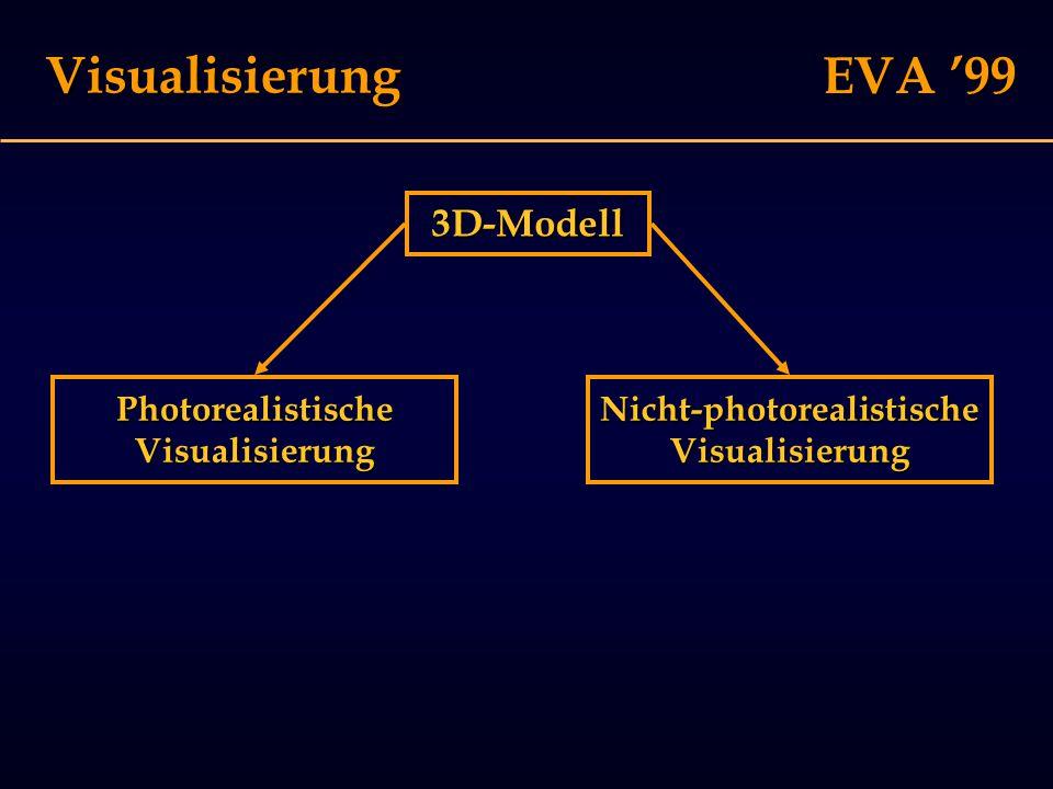 EVA '99 Visualisierung 3D-Modell Nicht-photorealistischeVisualisierungPhotorealistischeVisualisierung