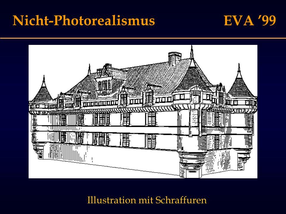 EVA '99 Nicht-Photorealismus Illustration mit Schraffuren