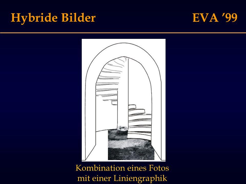 EVA '99 Hybride Bilder Kombination eines Fotos mit einer Liniengraphik
