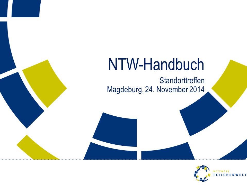 NTW-Handbuch Standorttreffen Magdeburg, 24. November 2014
