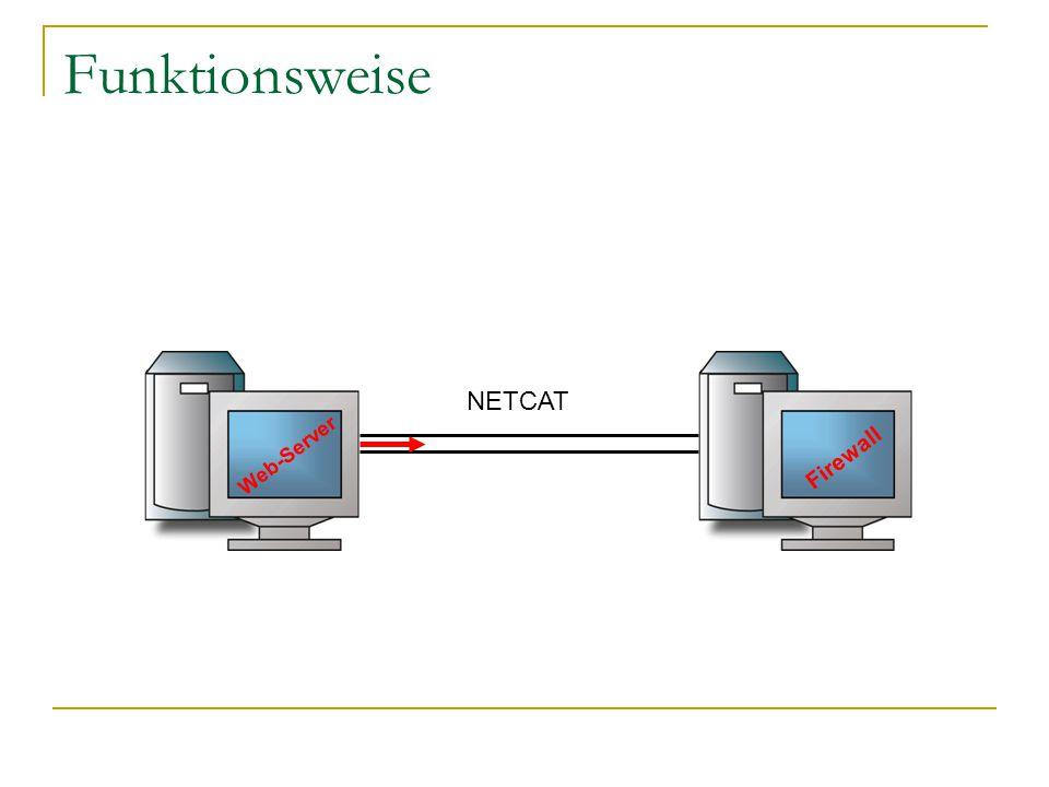Funktionsweise Web-Server Firewall NETCAT
