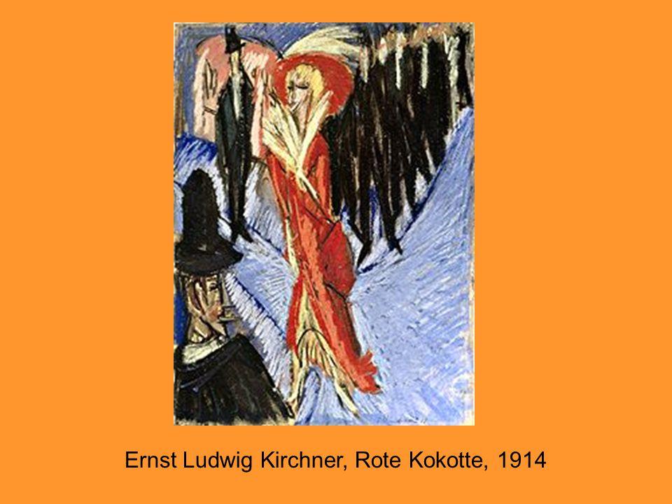 Ernst Ludwig Kirchner, Rote Kokotte, 1914
