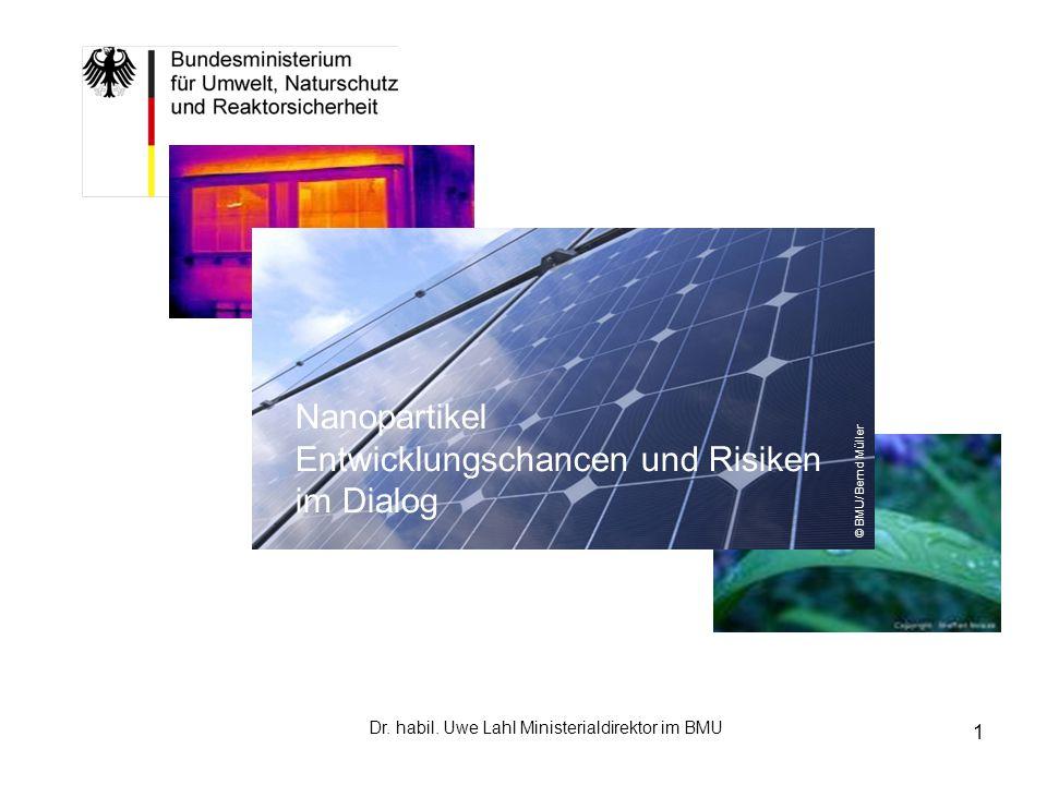 2 Arbeitsdefinition Nanomaterialien In mindestens einer Dimension 1 - 100 nm 1.