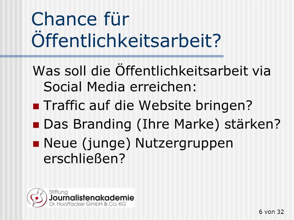 5 von 32 Facebook In Deutschland sind es derzeit (Januar 2012) 22,1 Millionen aktive Nutzer.