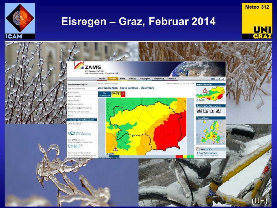 Eisregen – Slowenien, Feb 2014 Meteo 313 Besonders krass war die Situation in der Region um Postojna in Slowenien (Bilder: Österr.