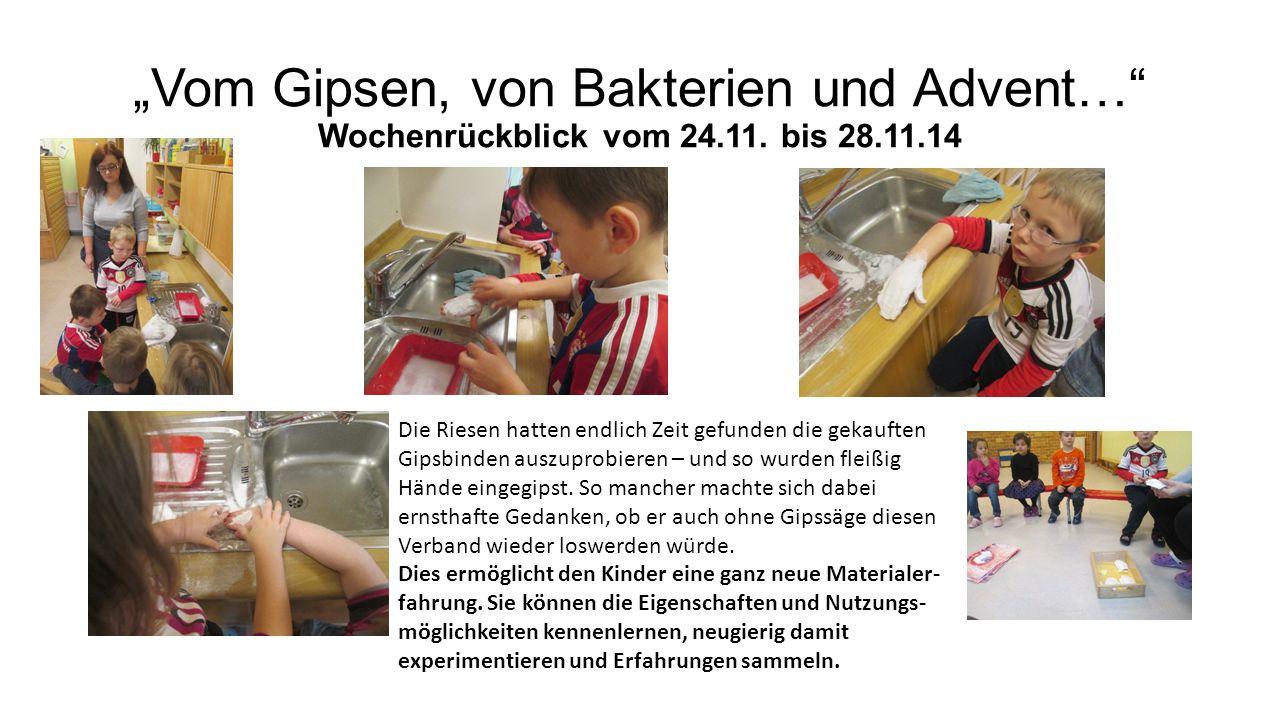 """""""Vom Gipsen, von Bakterien und Advent… Wochenrückblick vom 24.11."""