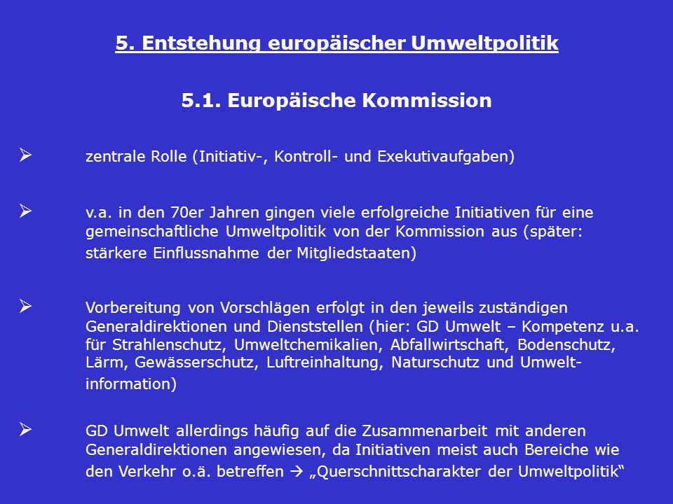 5.Entstehung europäischer Umweltpolitik 5.1.