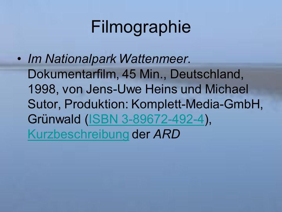 Filmographie Im Nationalpark Wattenmeer.