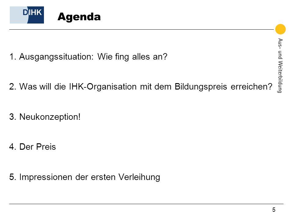 5 Agenda 1. Ausgangssituation: Wie fing alles an.