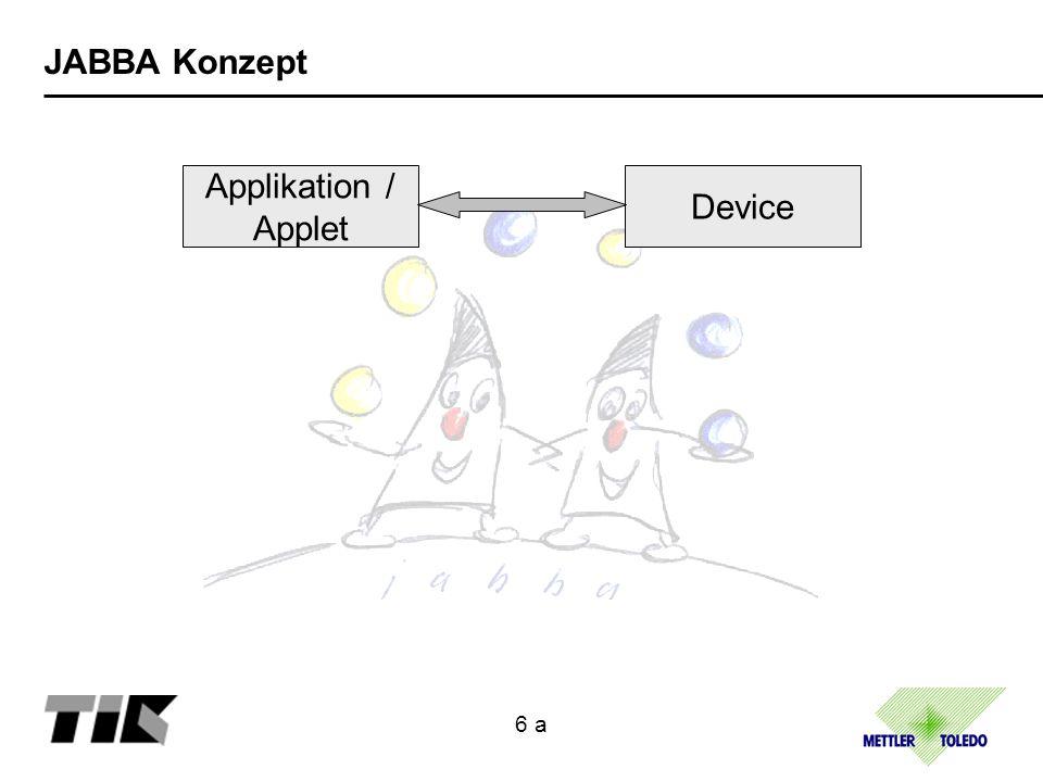 JABBA Konzept Applikation / Applet API Device User Process 6 b