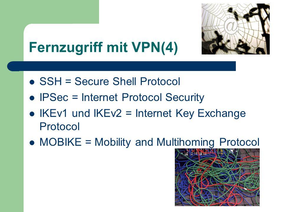 Bordverpflegung ist kein 8-Gänge-Menü Der in Win2k, XP, Vista eingebaute VPN- Server erlaubt nur eine Verbindung.