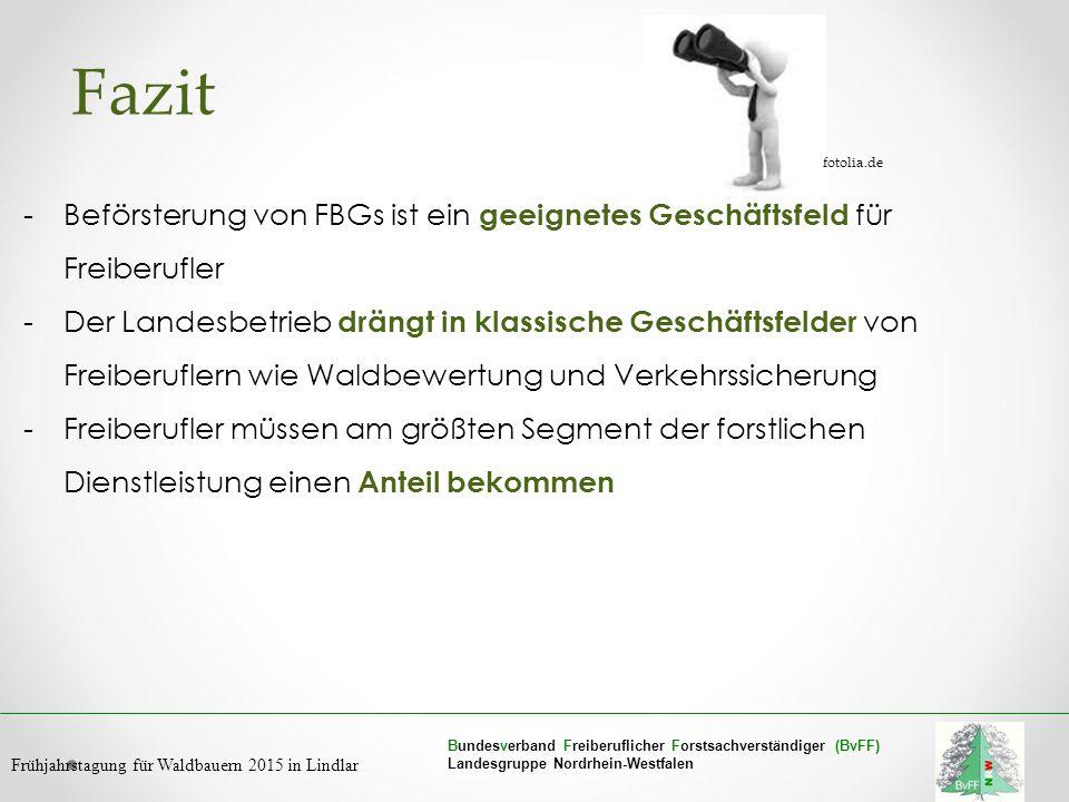 Bundesverband Freiberuflicher Forstsachverständiger (BvFF) Landesgruppe Nordrhein-Westfalen Frühjahrstagung für Waldbauern 2015 in Lindlar Fazit -Befö