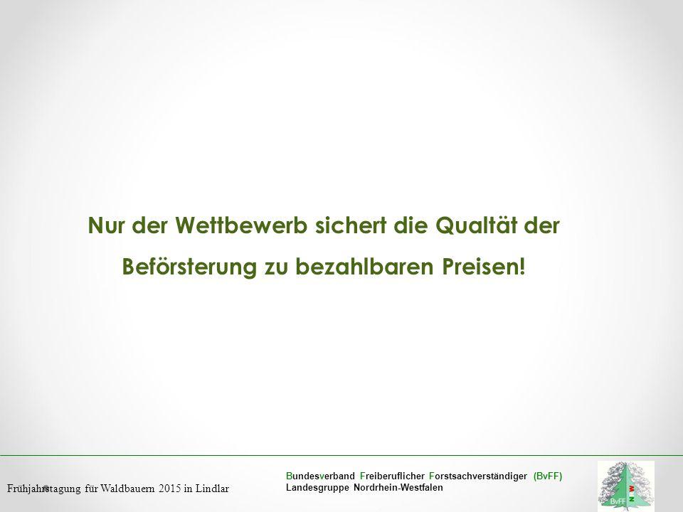 Bundesverband Freiberuflicher Forstsachverständiger (BvFF) Landesgruppe Nordrhein-Westfalen Frühjahrstagung für Waldbauern 2015 in Lindlar Nur der Wet