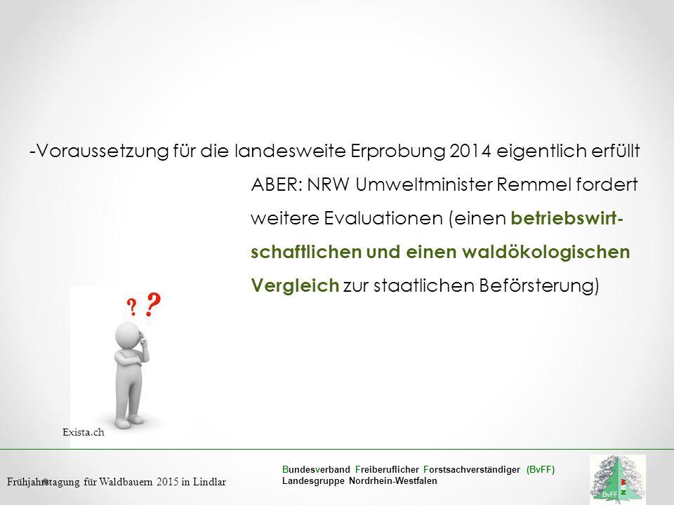 Bundesverband Freiberuflicher Forstsachverständiger (BvFF) Landesgruppe Nordrhein-Westfalen Frühjahrstagung für Waldbauern 2015 in Lindlar -Voraussetz