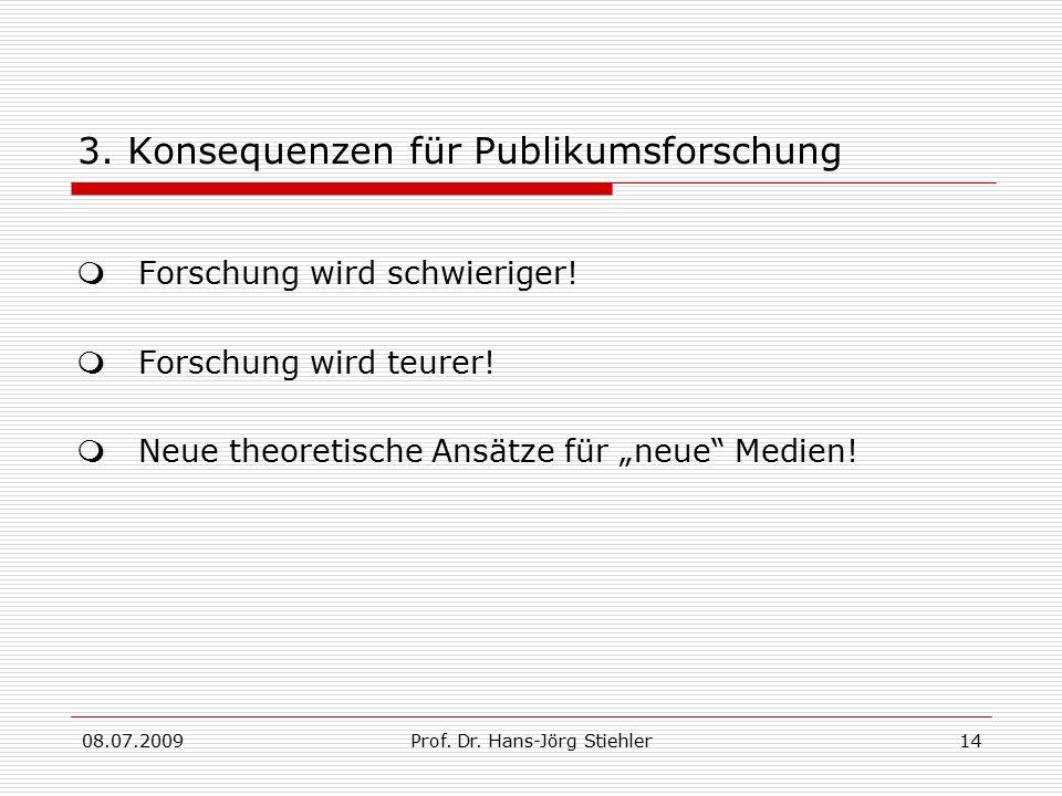 08.07.2009Prof.Dr. Hans-Jörg Stiehler14 3.