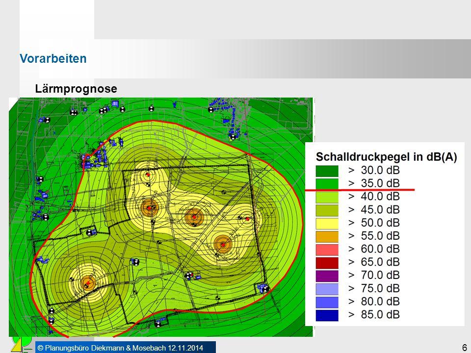 © Planungsbüro Diekmann & Mosebach 12.11.2014 7 Lärmprognose Vorarbeiten