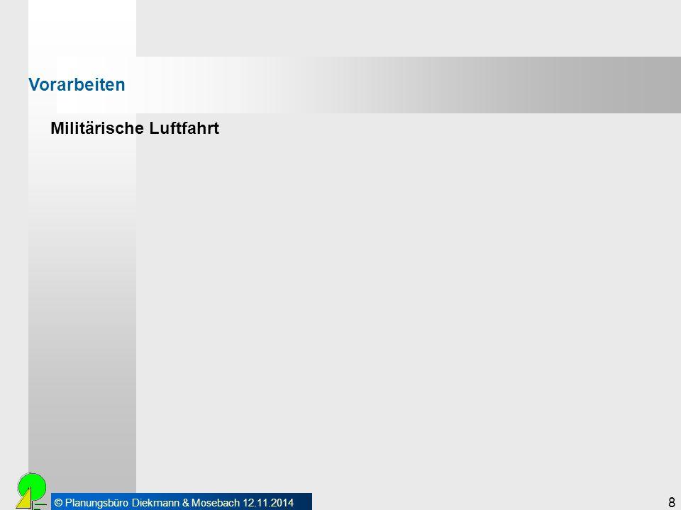 © Planungsbüro Diekmann & Mosebach 12.11.2014 9 Militärische Luftfahrt Vorarbeiten Der Windpark Hohegaste befindet sich in einer Entfernung von ca.
