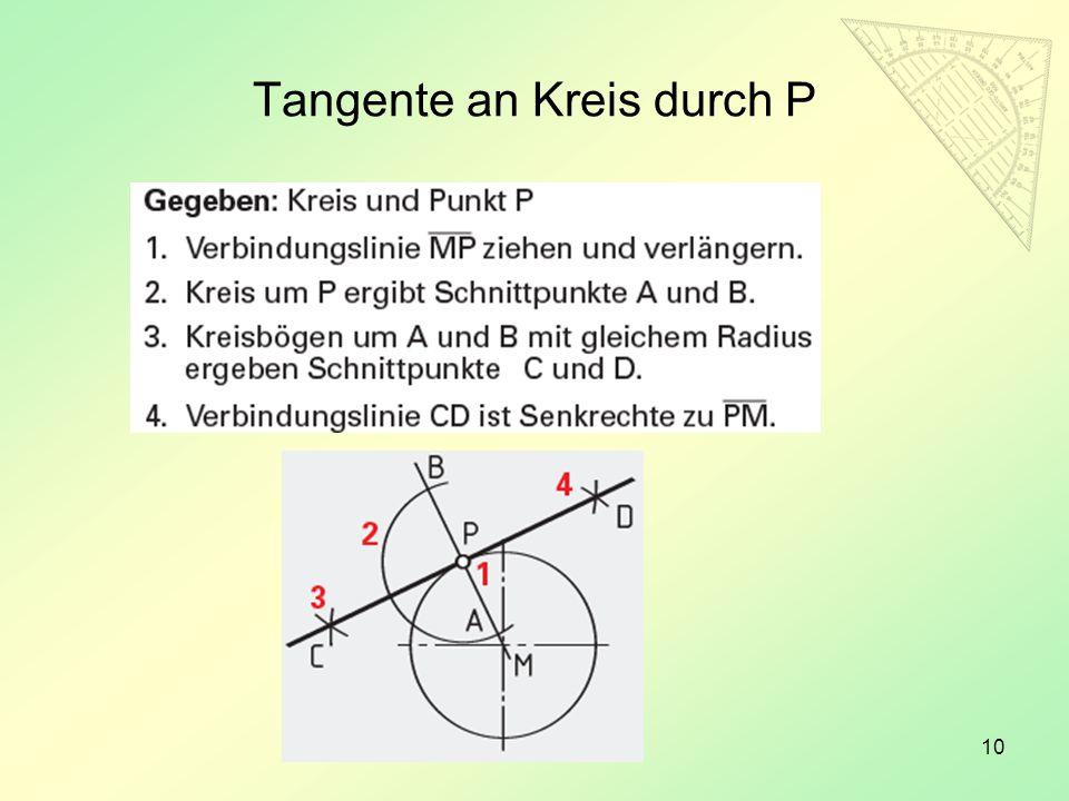 10 Tangente an Kreis durch P