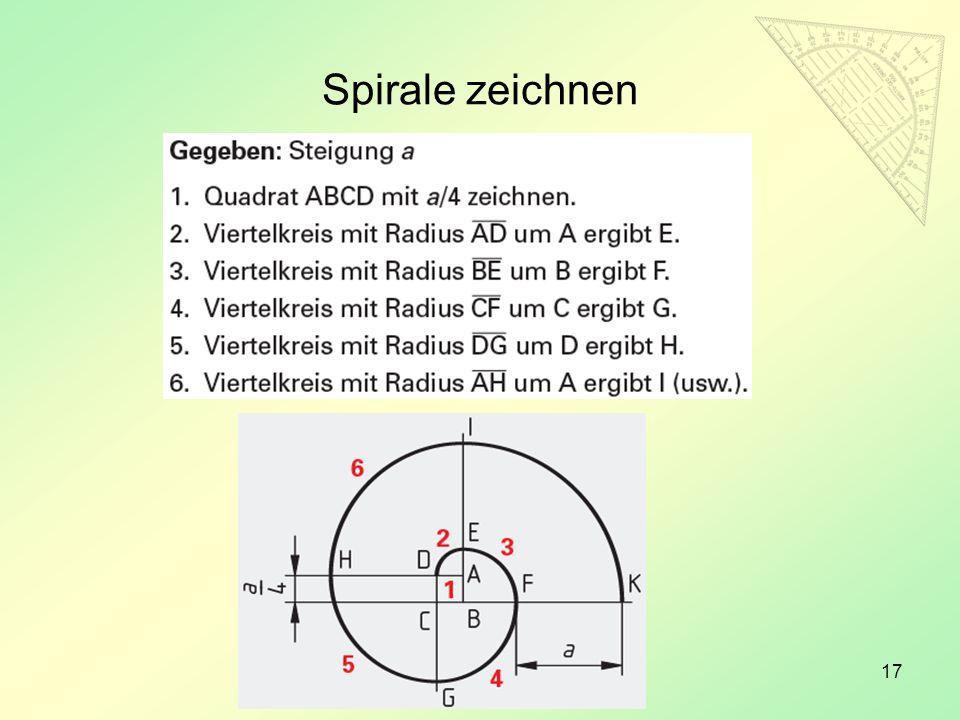 17 Spirale zeichnen
