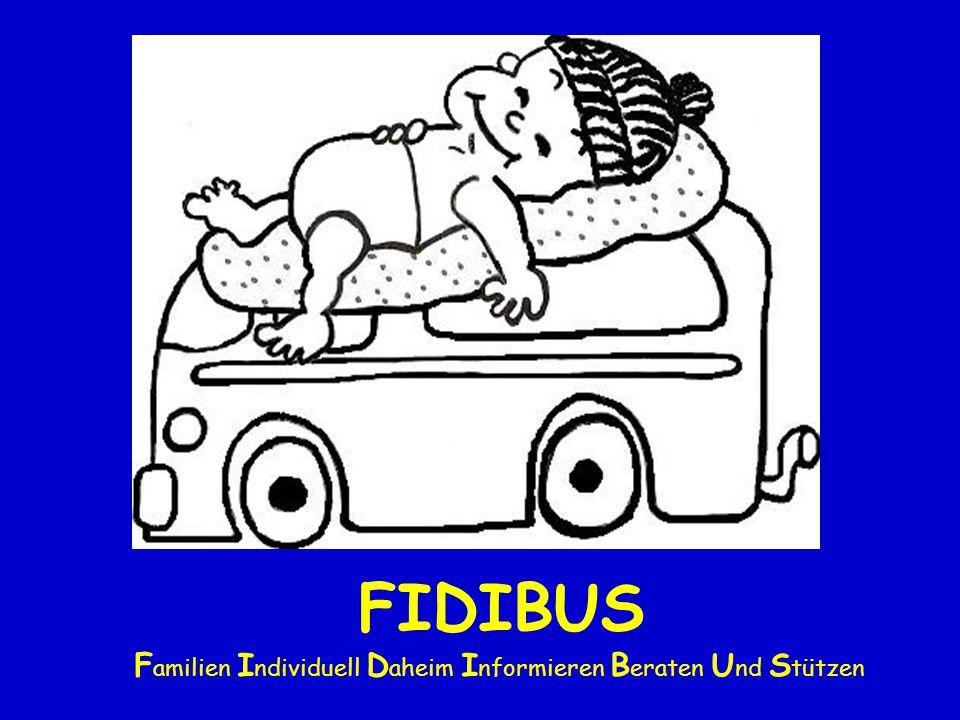 FIDIBUS Zielgruppen Eltern mit Frühgeborenen < 1500 Gramm Risikogeborene Irritierbare, labile Säuglinge Eltern mit erhöhtem Beratungsbedarf Familiäre Risikokumulation