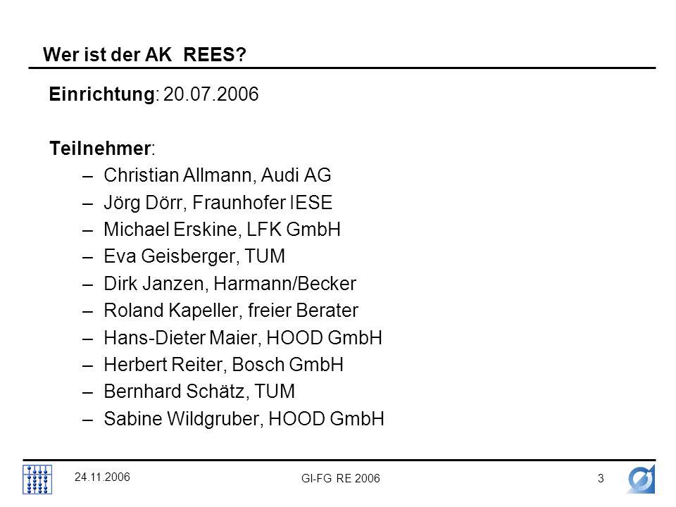 GI-FG RE 20063 24.11.2006 Wer ist der AK REES.