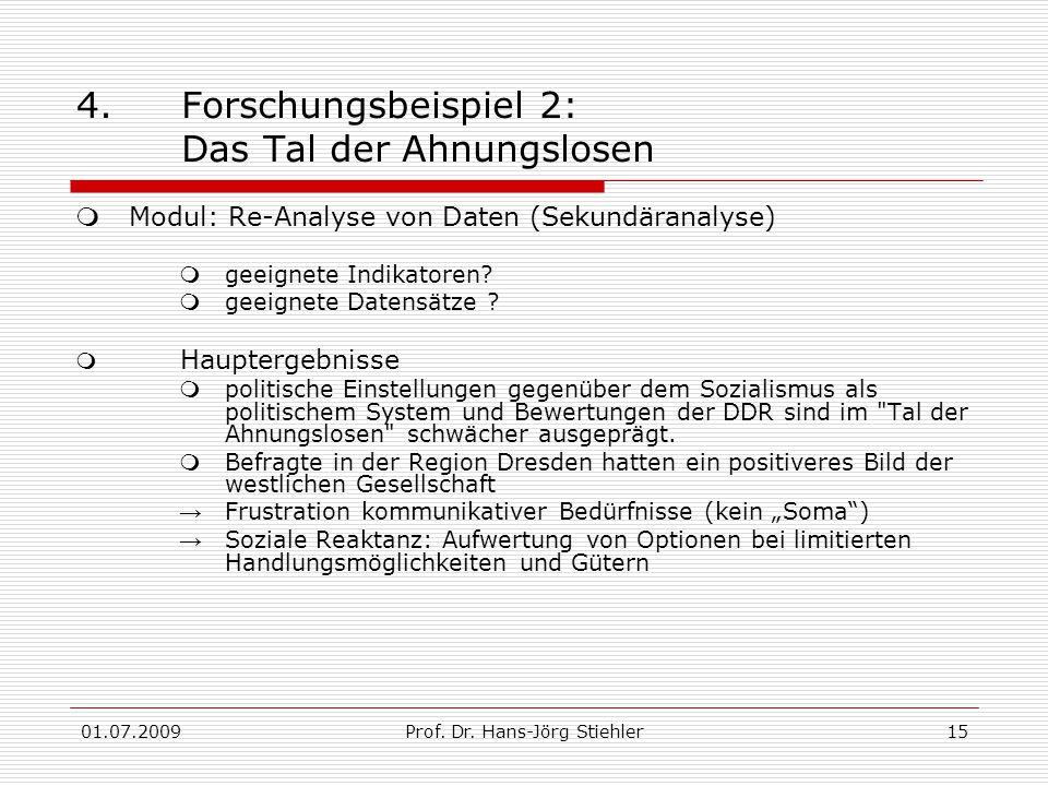 01.07.2009Prof. Dr. Hans-Jörg Stiehler15 4.