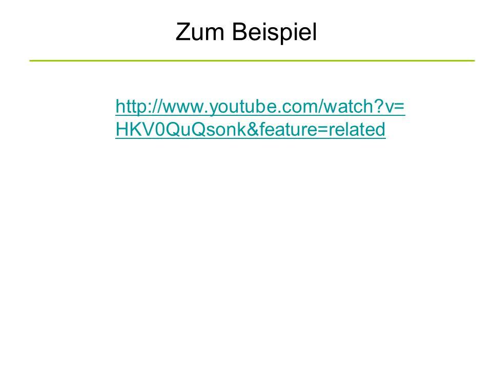 Zum Beispiel http://www.youtube.com/watch?v= HKV0QuQsonk&feature=related
