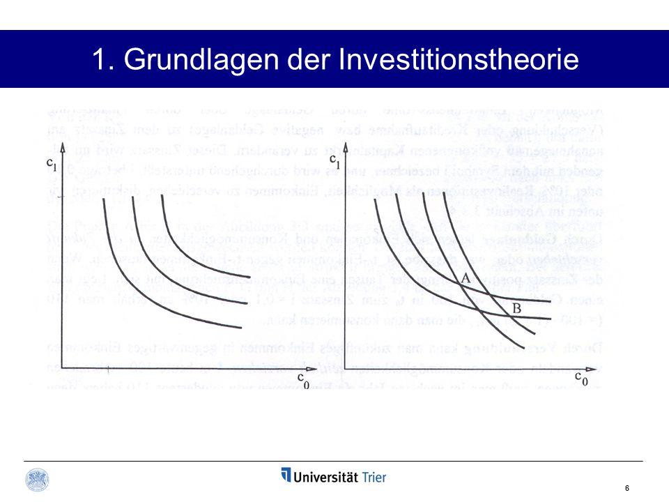6 1. Grundlagen der Investitionstheorie