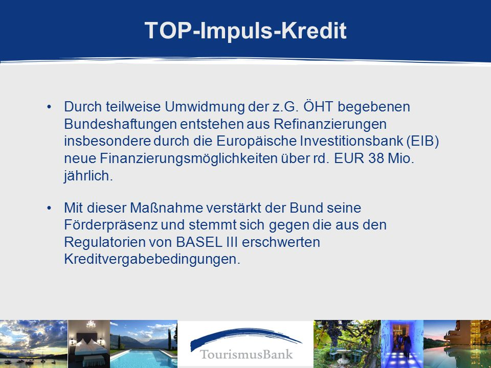TOP-Impuls-Kredit Durch teilweise Umwidmung der z.G.