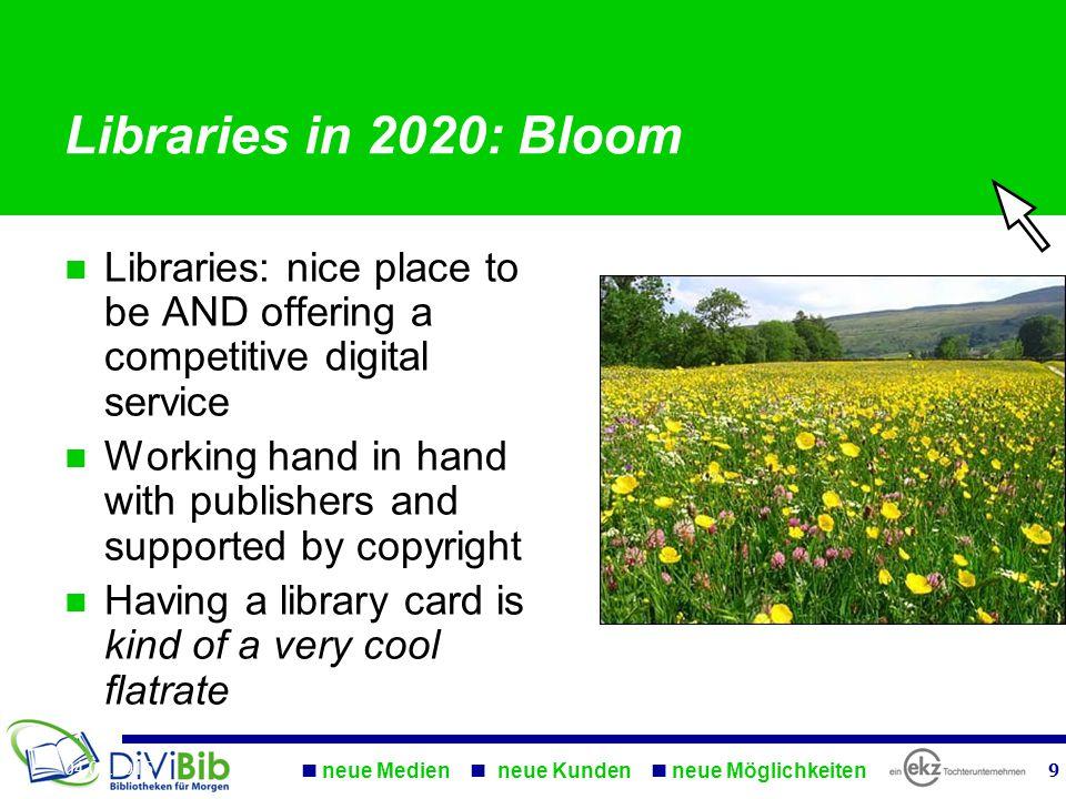 Let thousand libraries bloom….. neue Medien neue Kunden neue Möglichkeiten