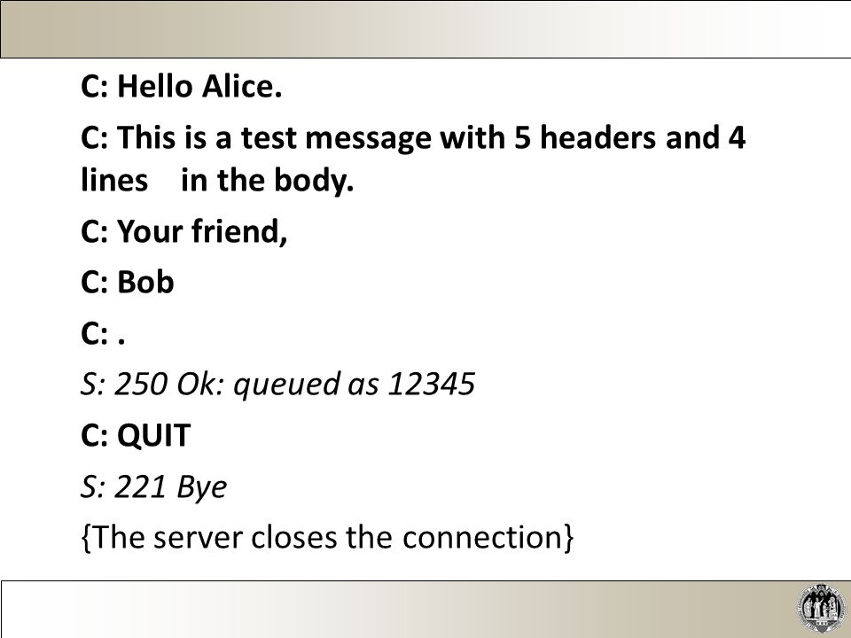 Die Verbindung zwischen E-Mail-Client und Server findet über TCP auf Port 143 statt.