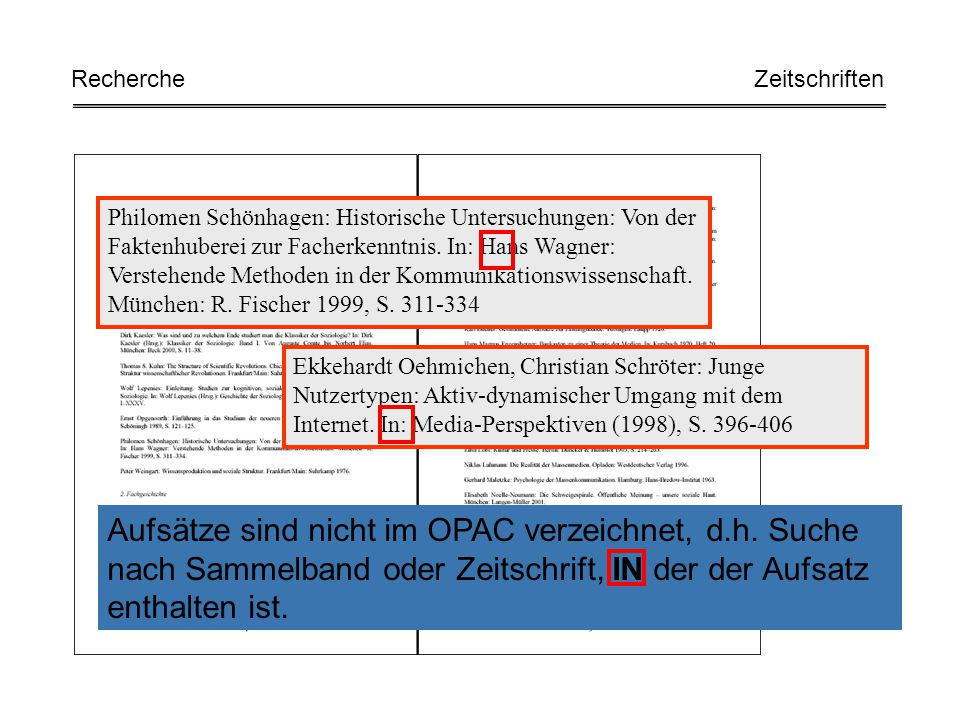 Philomen Schönhagen: Historische Untersuchungen: Von der Faktenhuberei zur Facherkenntnis. In: Hans Wagner: Verstehende Methoden in der Kommunikations