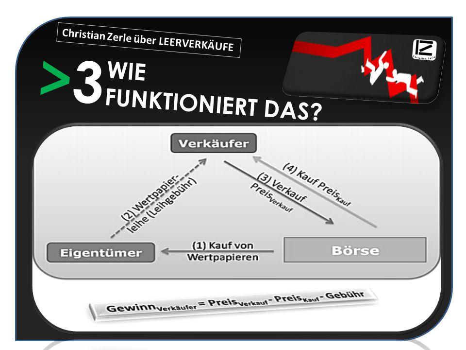 >3>3 WIE FUNKTIONIERT DAS? Christian Zerle über LEERVERKÄUFE