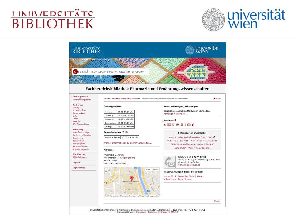 Fachgebiets-Vorauswahl der Datenbanken