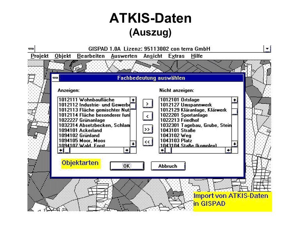 ATKIS-Daten (Auszug)