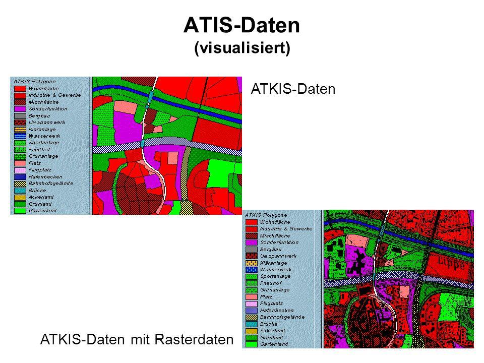 ATIS-Daten (visualisiert) ATKIS-Daten mit Rasterdaten ATKIS-Daten