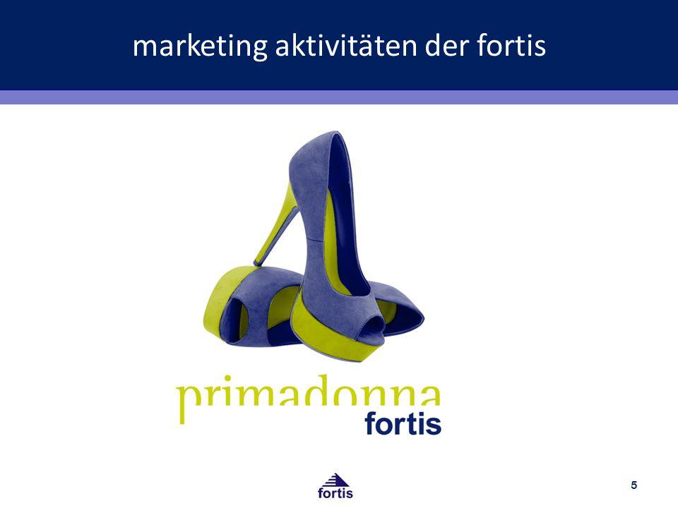 marketing aktivitäten der fortis 5