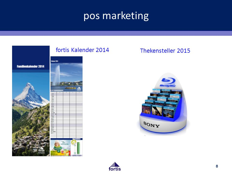 pos marketing 8 fortis Kalender 2014 Thekensteller 2015
