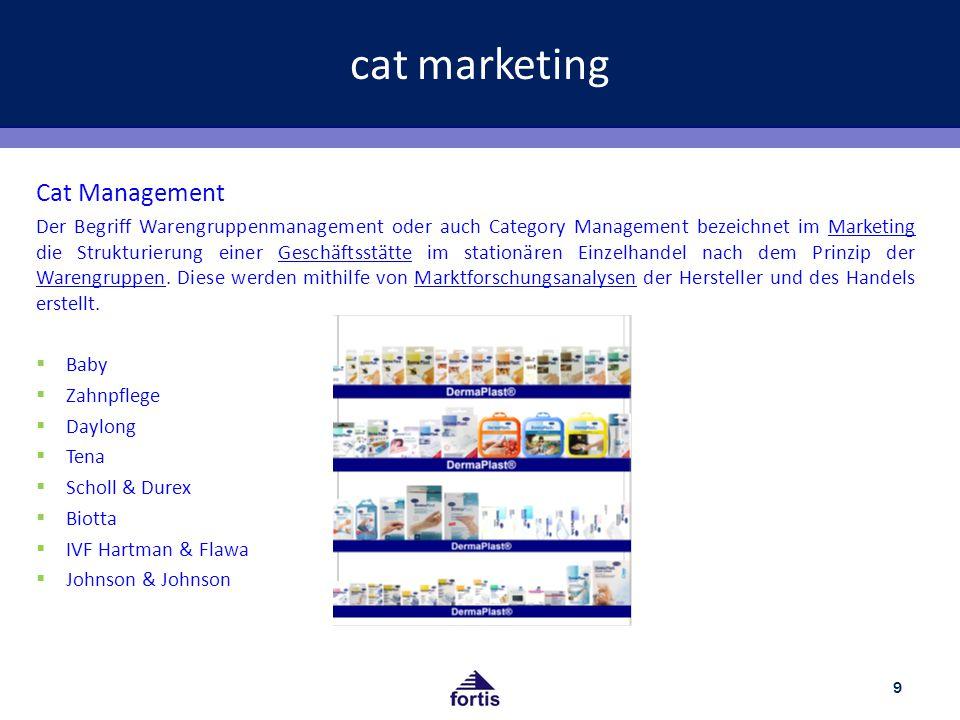 cat marketing 9 Cat Management Der Begriff Warengruppenmanagement oder auch Category Management bezeichnet im Marketing die Strukturierung einer Geschäftsstätte im stationären Einzelhandel nach dem Prinzip der Warengruppen.