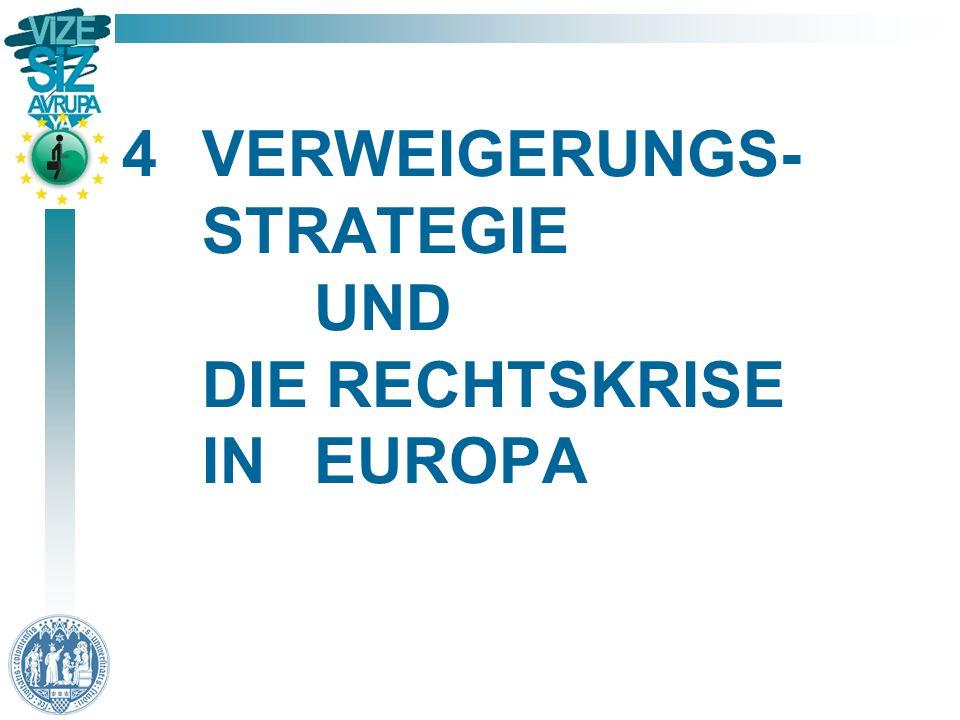 4 VERWEIGERUNGS- STRATEGIE UND DIE RECHTSKRISE IN EUROPA